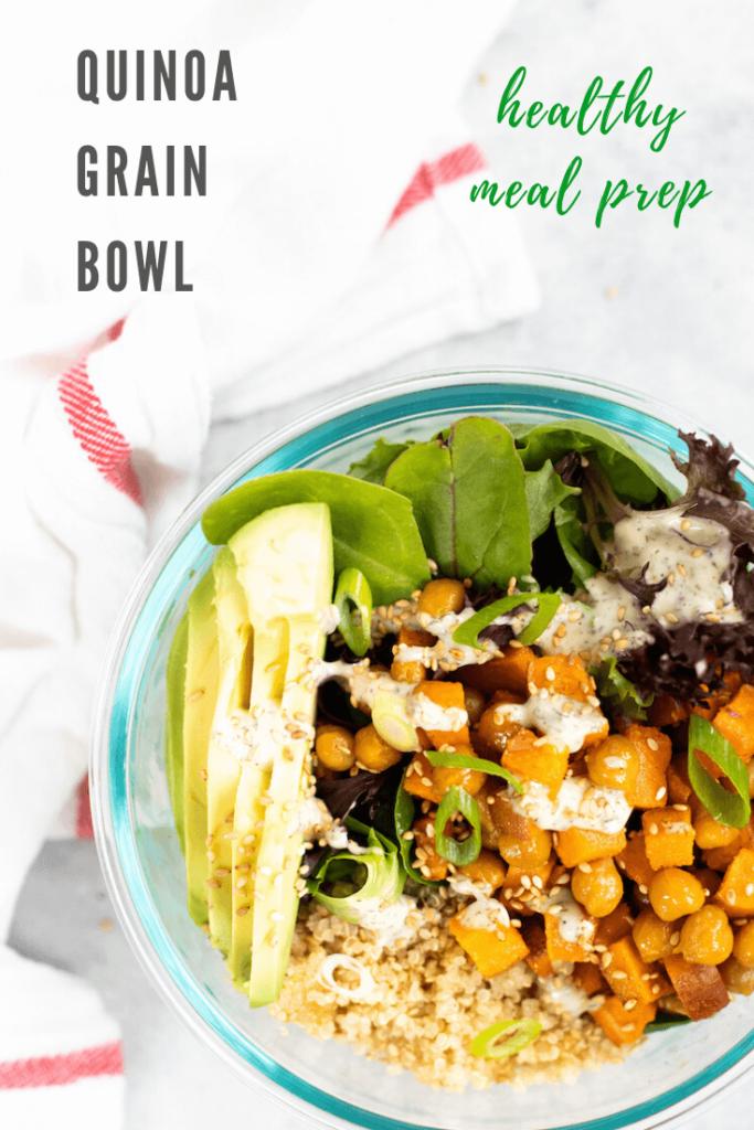 quinoa grain bowls vegan meal prep - pinterest