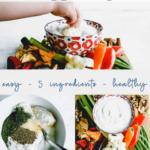 5 ingredient healthy greek yogurt veggie dill dip - pinterest