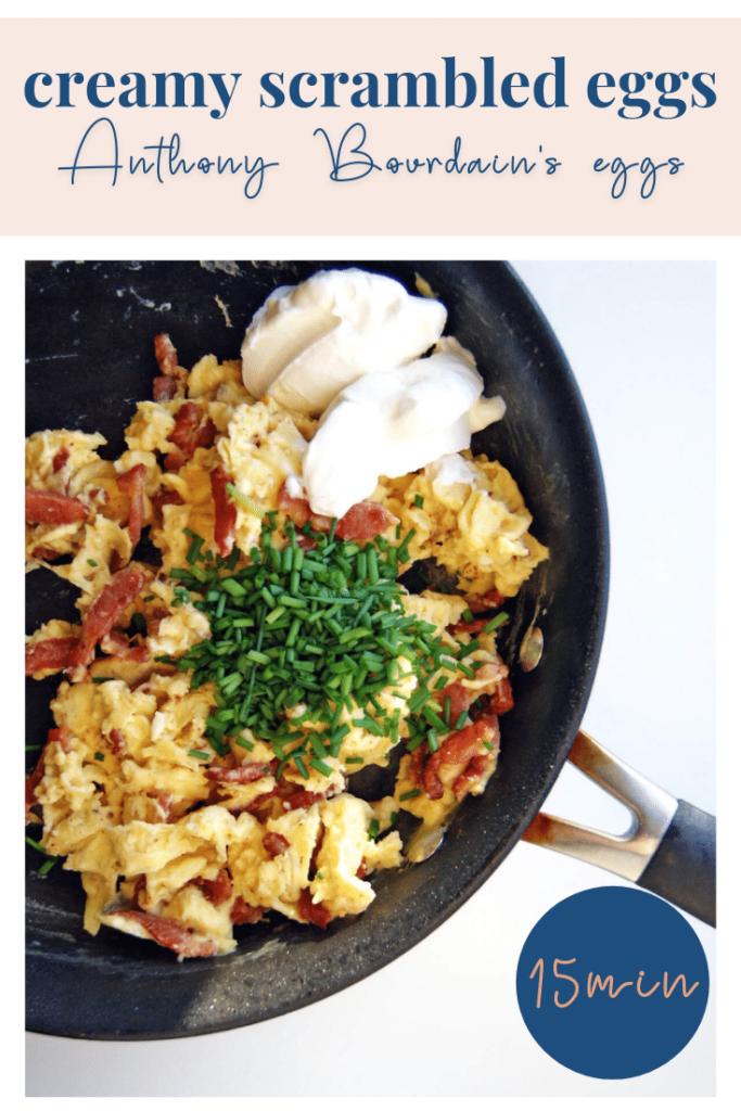 Creamy scrambled eggs with sour cream - pinterest