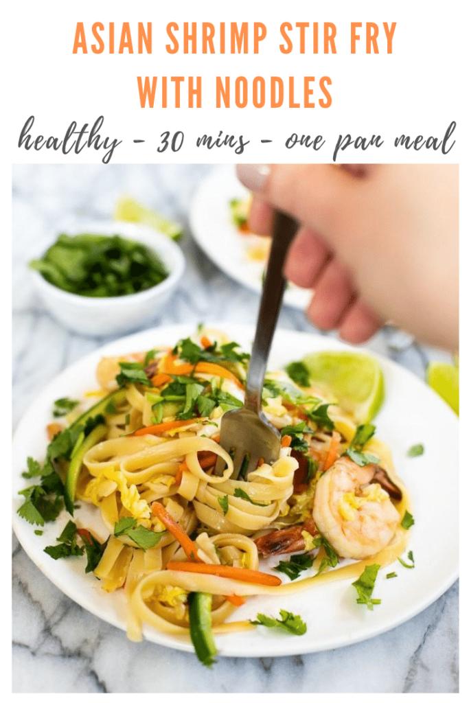 asian shrimp noodles - pinterest