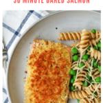 baked panko salmon recipe - pinterest
