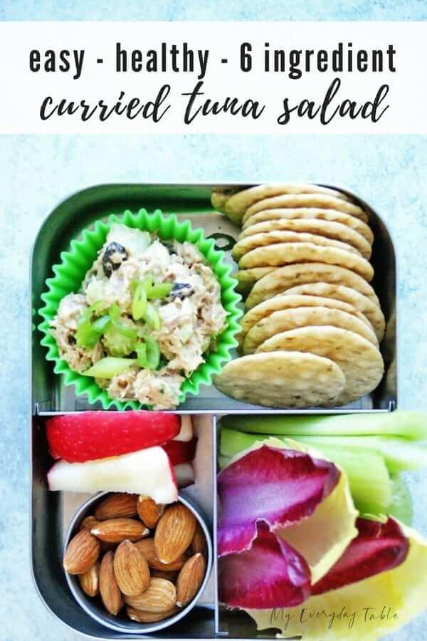 Easy Curried Tuna Salad Snack Plate7