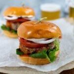 healthy turkey burger recipe with buffalo butter sauce