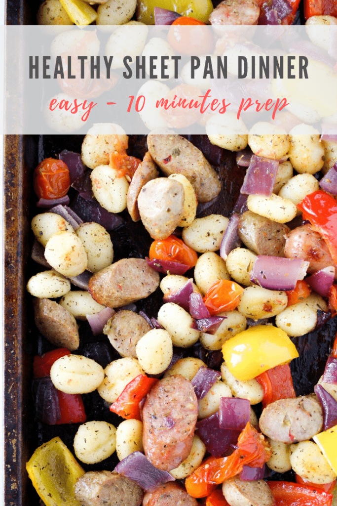 easy sheet pan dinners with baked gnocchi - pinterest