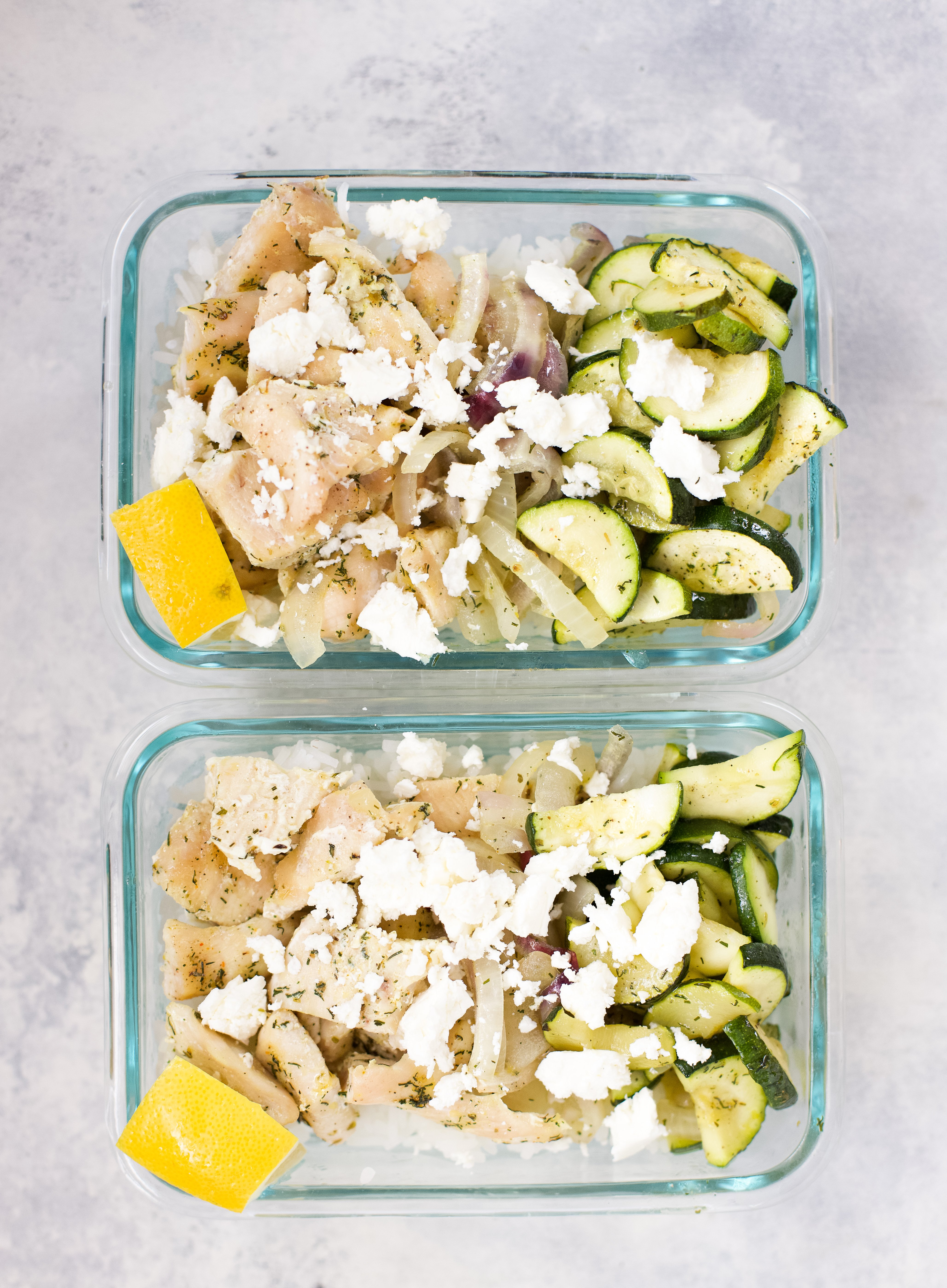 chicken rice bowl with feta