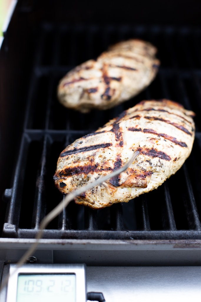 grilled turkey tenderloin on the grill