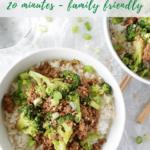 Ground Beef & Broccoli Rice Bowl recipe - pinterest