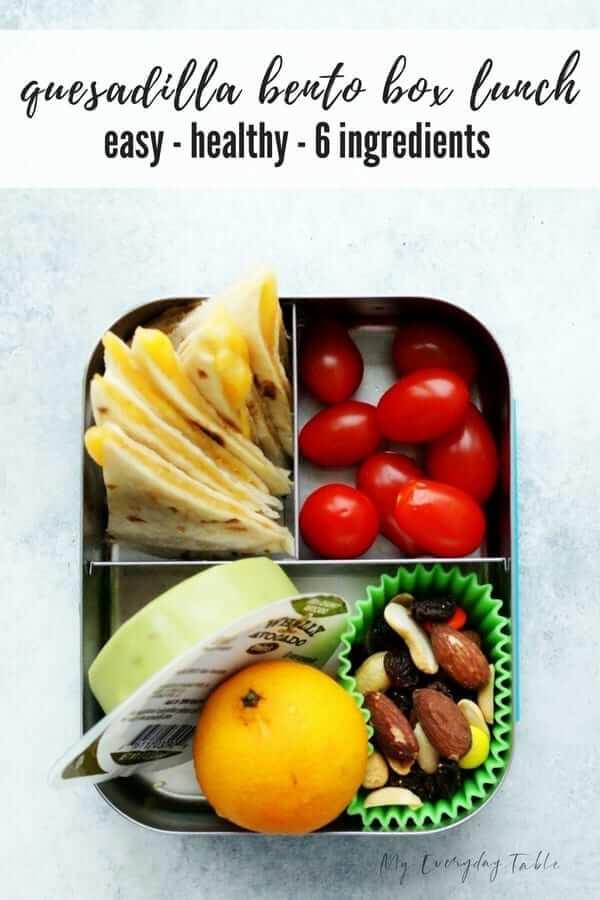 Healthy Cheese Quesadilla Bento Box1