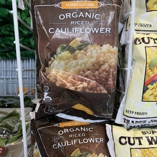 trader joe's frozen riced cauliflower