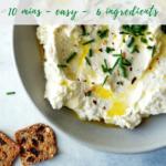 Lemon Feta Dip recipe - pinterest