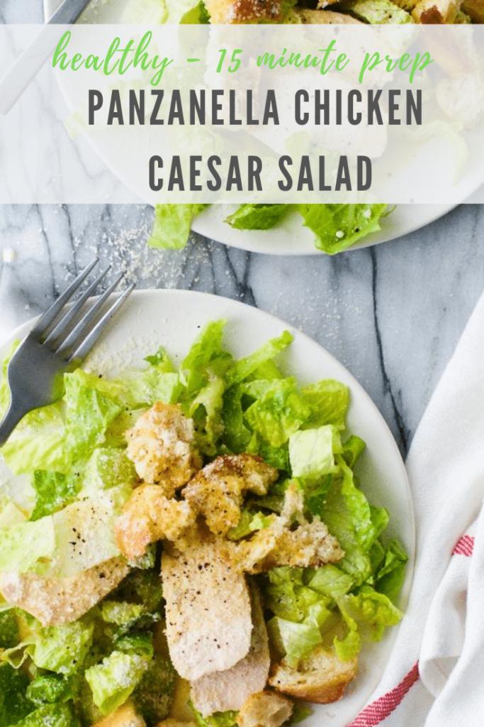 panzanella chicken caesar salad recipe - pinterest