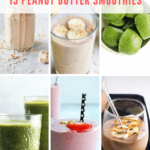 healthy peanut butter smoothies - pinterest