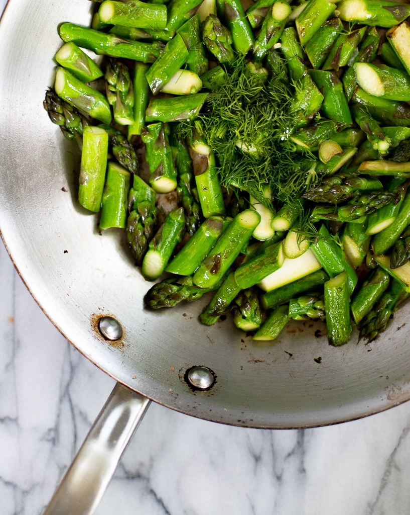 sauteed asparagus with lemon and dill
