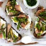 asparagus tartine recipe