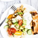 two plates of Greek chickpea dinner recipe