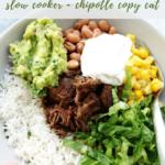 Slow Cooker Barabacoa Burrito Bowls recipe - pinterest
