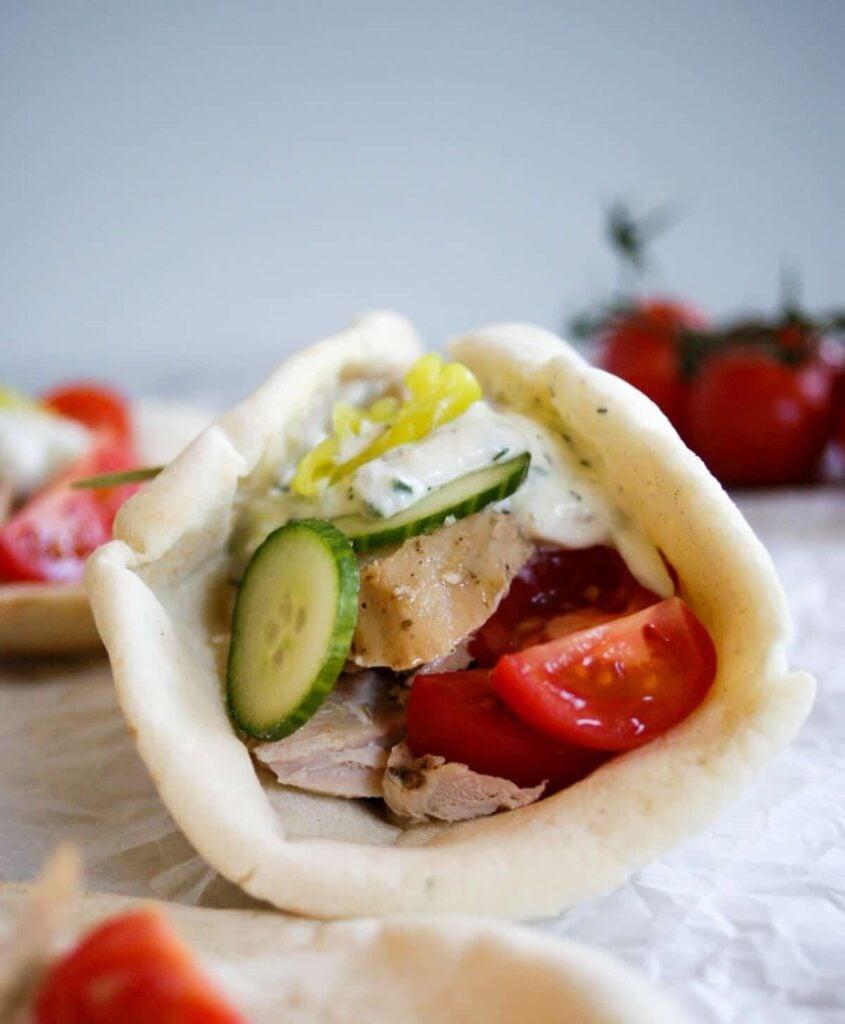 slow cooker pork loin in pita