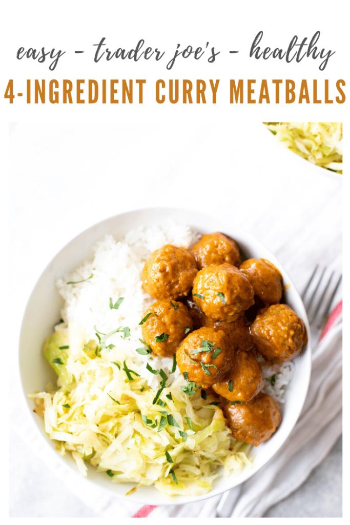 TJ's curry meatball recipe - pinterest