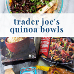 Ingredients for Trader Joe's pollo asado quinoa bowls - pinterest