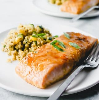 apricot glaze for salmon - straight ahead