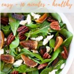 dried figs, pecans, and blue cheese with arugula salad
