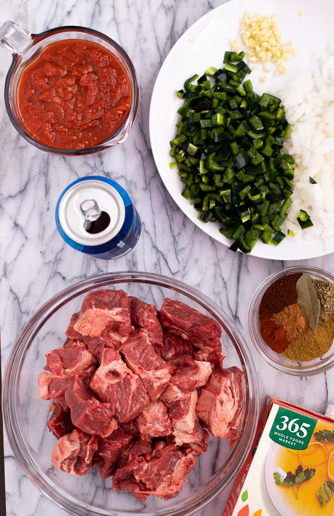 ingredients for chili con carne recipe