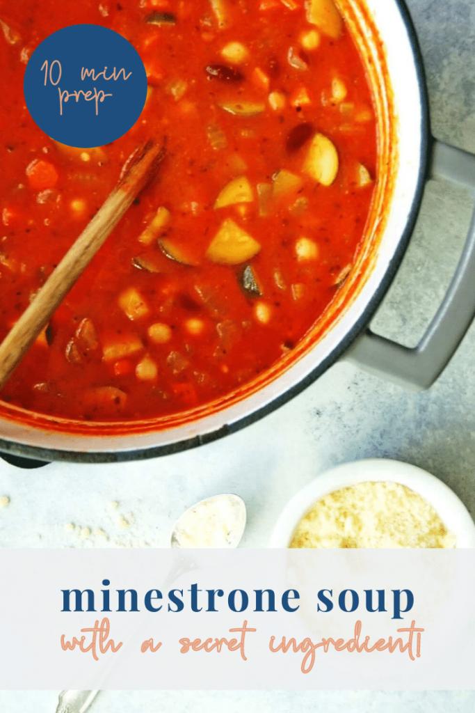 Healthy minestrone soup recipe - pinterest