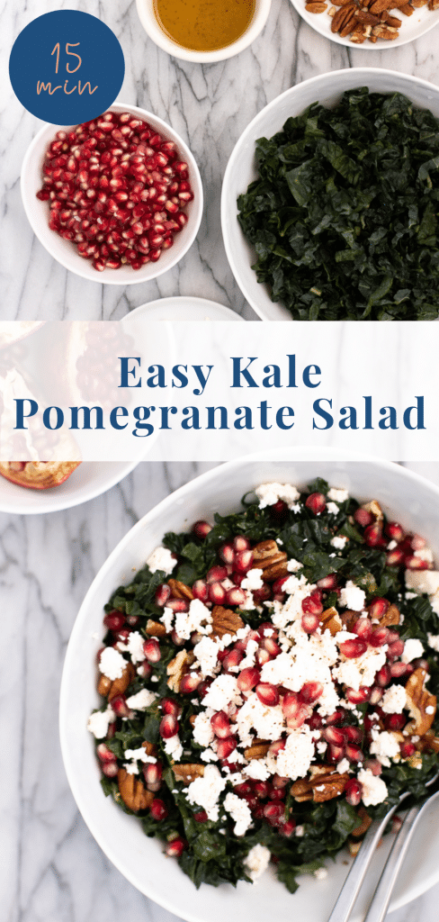 Kale pomegranate salad recipe - pinterest