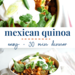 mexican quinoa - one pot - quick easy dinner 30 min - plant based