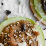 healthy peanut butter apple stacks - easy - pinterest