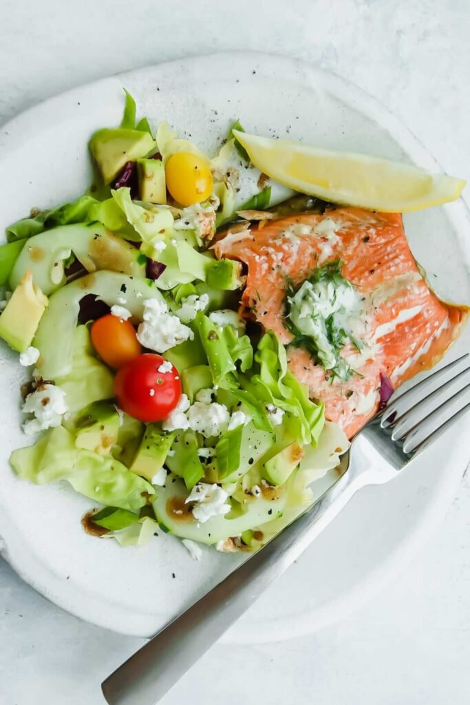 salmon with dill butter