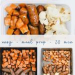 one pan sausage + veggies - easy healthy - meal prep - pinterest