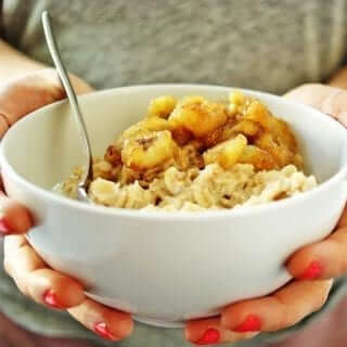 Sautéed Banana Oatmeal is as decadent as it sounds - and a filling breakfast packed with fiber and healthy fats.
