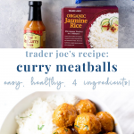 4 ingredient trader joe's curry meatballs - healthy - pinterest