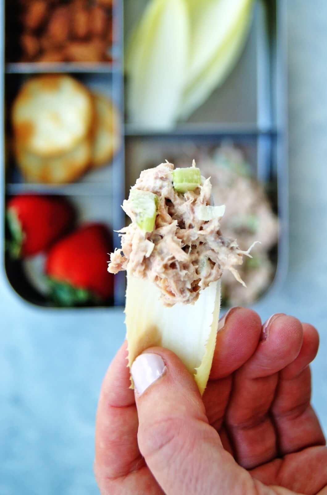easy tuna salad snack plate